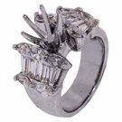 2.20 CARAT WOMENS DIAMOND ENGAGEMENT RING SEMI-MOUNT WHITE GOLD