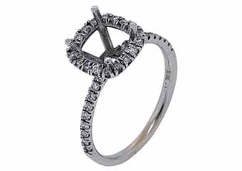 .40 CARAT WOMENS DIAMOND HALO ENGAGEMENT RING SEMI-MOUNT ROUND CUT WHITE GOLD