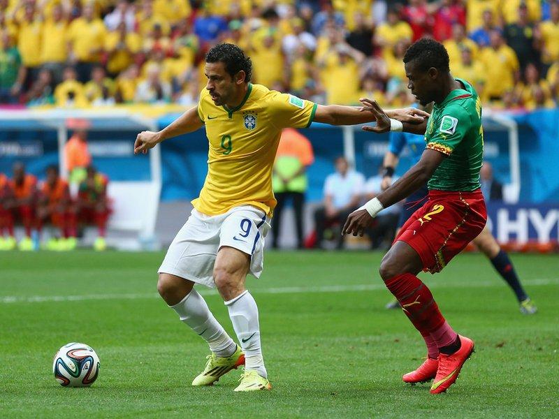 004 -  8 X 6 Photo - Football - FIFA World Cup 2014 - Brazil V Cameroon Fred & Henri Bedimo.jpg