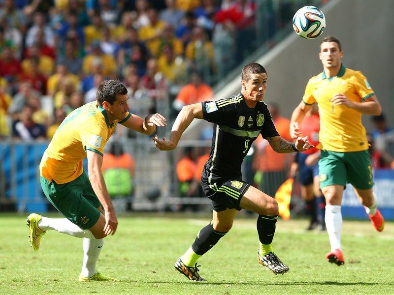 027 -  8 X 6 Photo - Football - FIFA World Cup 2014 - Spain V Australia Fernando Torres