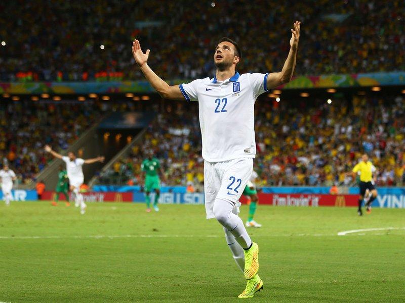 036 -  8 X 6 Photo - Football - FIFA World Cup 2014 - Greece V Ivory Coast Andreas Samaris