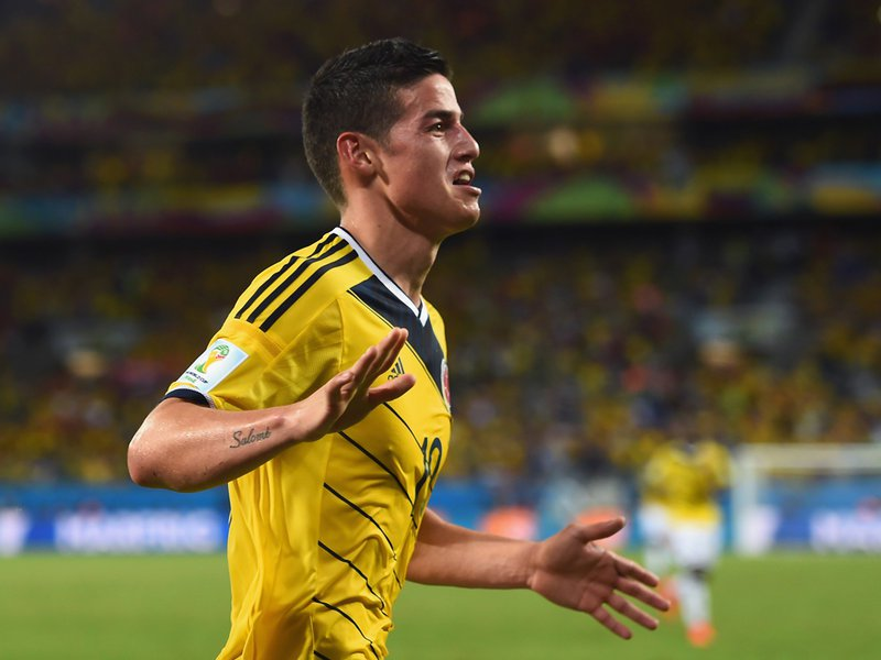 045 -  8 X 6 Photo - Football - FIFA World Cup 2014 - Japan V Colombia James Rodriguez
