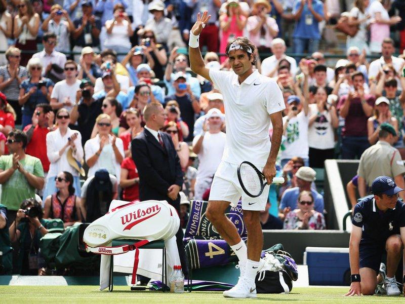 019 - 8 X 6 Photo - Tennis - Wimbledon Championship 2014 - Day 2 - Roger Federer