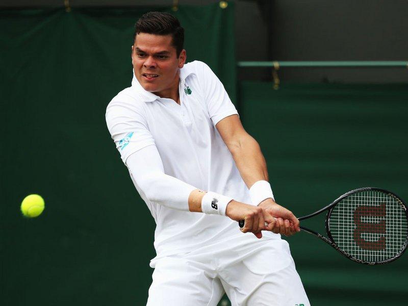 042 -  8 X 6 Photo - Tennis - Wimbledon Championship 2014 - Day 2 - Milos Raonic