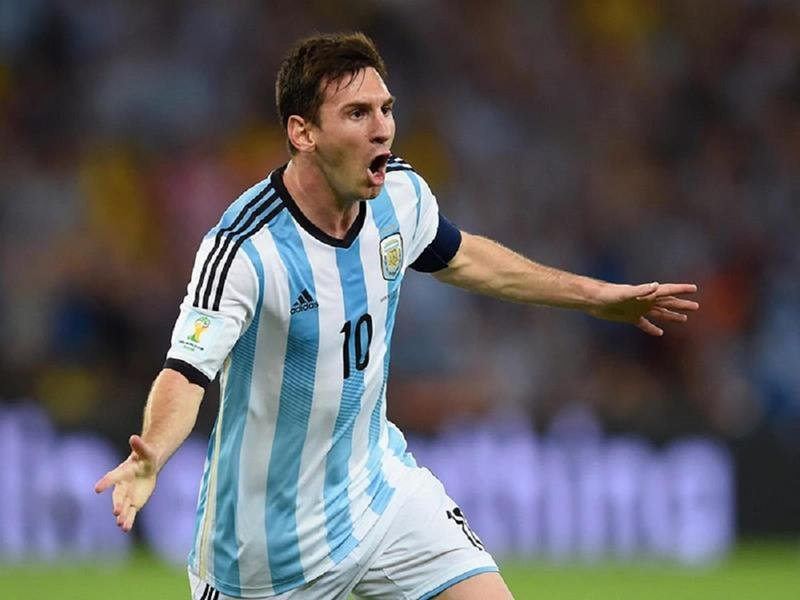WC 0103 - 8 X 6 Photo - Football - FIFA World Cup 2014 - Argentina V Bosnia - Lionel Messi