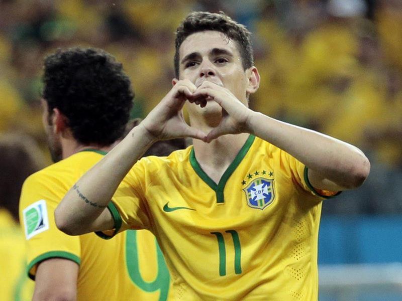 WC 0138 - 8 X 6 Photo - Football - FIFA World Cup 2014 - Brazil V Crotia - Oscar  Celebration