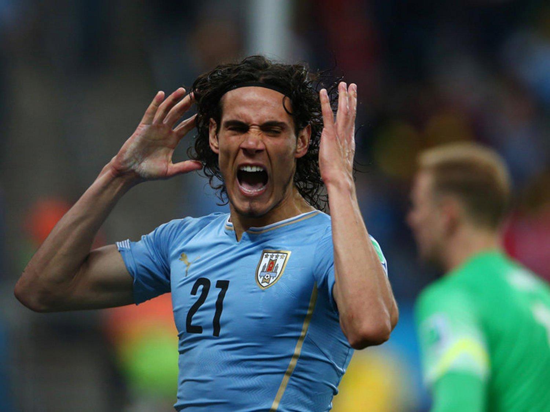 WC 0158 - 8 X 6 Photo - Football - FIFA World Cup 2014 - England V Uruguay - Edinson Caani
