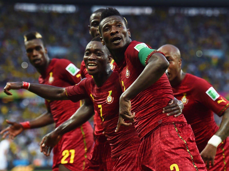 WC 0173 - 8 X 6 Photo - Football - FIFA World Cup 2014 - Germany V Ghana - Asamoah Gyan Celebration