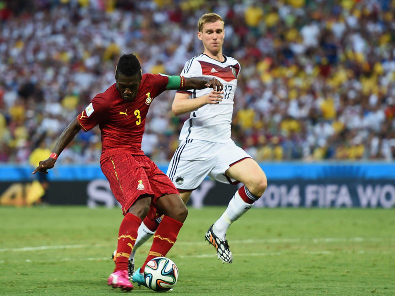 WC 0174 - 8 X 6 Photo - Football - FIFA World Cup 2014 - Germany V Ghana - Asamoah Gyan Scores