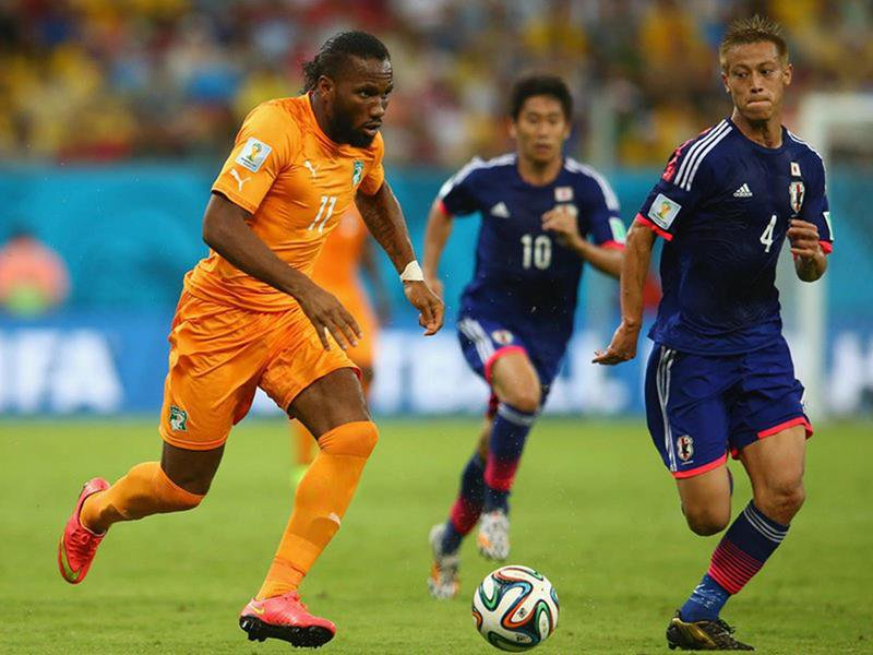 WC 0210 - 8 X 6 Photo - Football - FIFA World Cup 2014 - Japan V Ivory Coast - Didier  Drogba