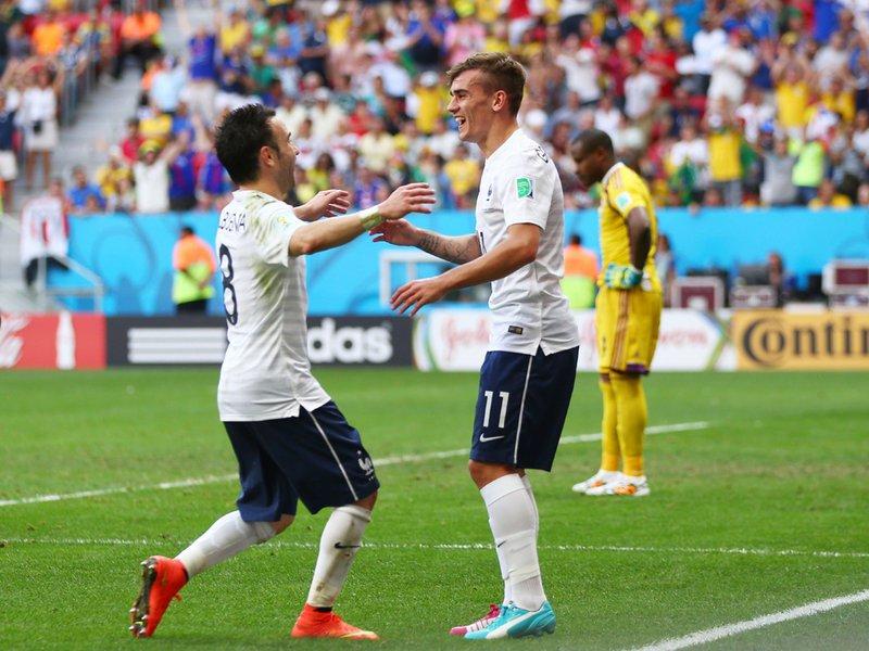 480 - 8 x 6 Photo - Football - FIFA World Cup - France v Nigeria - Mathieu Valbuena