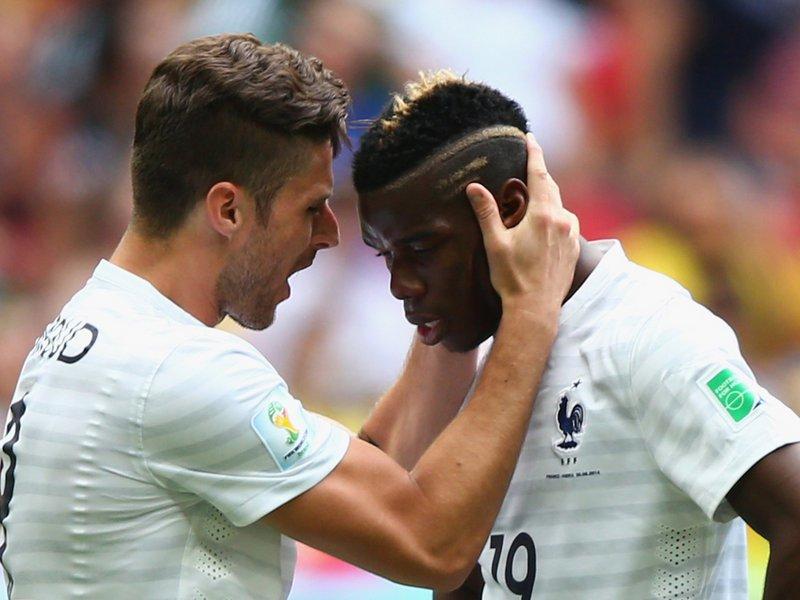 481 - 8 x 6 Photo - Football - FIFA World Cup - France v Nigeria - Olivier Giroud Paul Pogba