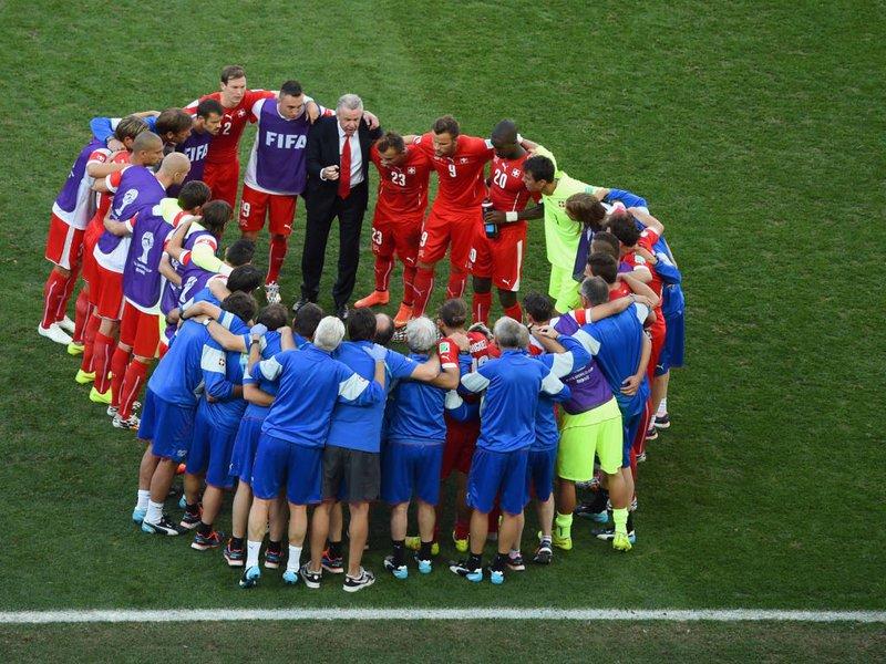 513 -  8 x 6 - Photo - Football - FIFA World Cup - Argentina v Switzerland Ottmar Hitzfeld