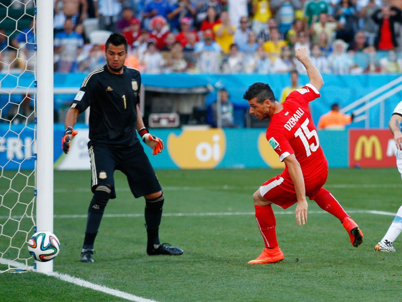 518 -  8 x 6 - Photo - Football - FIFA World Cup - Argentina v Switzerland Blerim Dzemaili