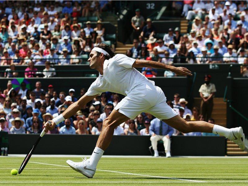 083 -  8 X 6 - Photo - Tennis - Wimbledon Championship 2014 - Day 8 - Roger Federer