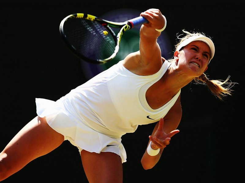 094 - 8 X 6 Photo - Tennis - Wimbledon Championship 2014 - Day 9 - Eugenie Bouchard