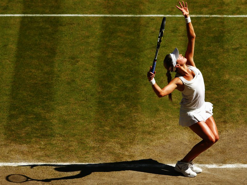 112 - 8 X 6 Photo - Tennis - Wimbledon Championship 2014 - Ladies Semi-Finals - Bouchard V Halep