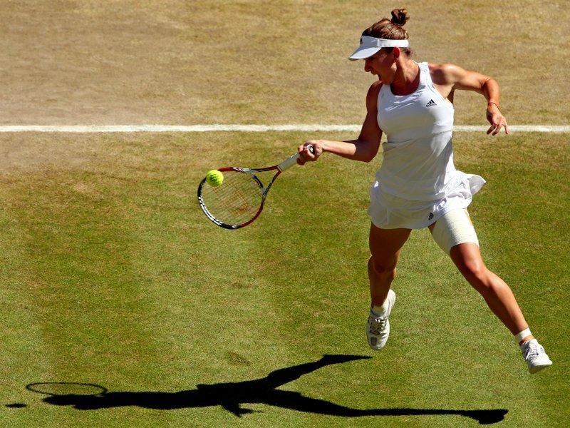 113 - 8 X 6 Photo - Tennis - Wimbledon Championship 2014 - Ladies Semi-Finals - Bouchard V Halep