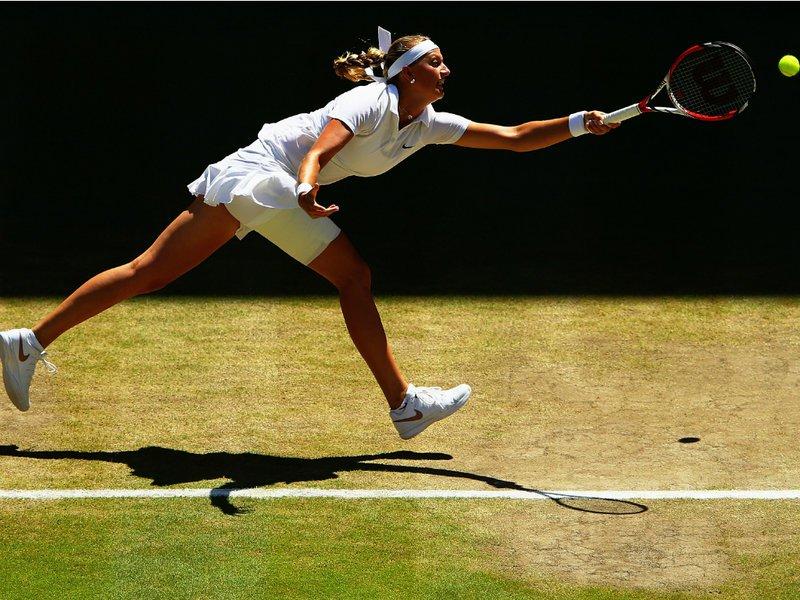 117 - 8 X 6 Photo - Tennis - Wimbledon Championship 2014 - Ladies Semi-Finals - Kvitova