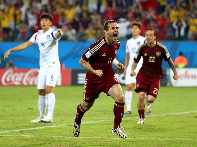 293 - 8 X 6 Photo - Football - FIFA World Cup 2014 - Russia V South Korea - Aleksandr  Kerz