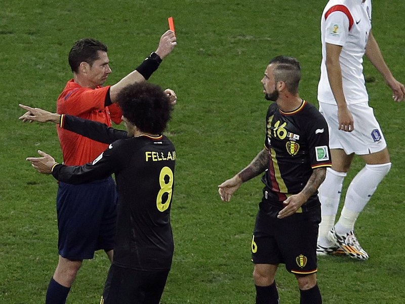 407 - 8 x 6 Photo - Football - Fifa World Cup 2014 - South Korea V Belgium Steven Defour