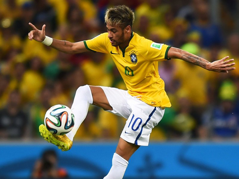 560 - 8 X 6 Photo - Football - FIFA World Cup 2014 - Brazil V Colombia - Neymar