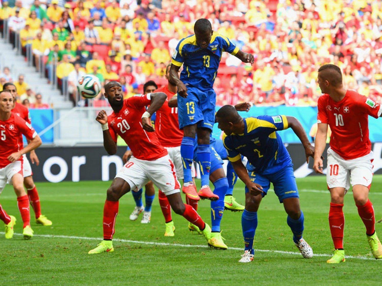 317 - 8 X 6 Photo - Football - FIFA World Cup 2014 - Switzerland V Ecuador - Enner  Valencia