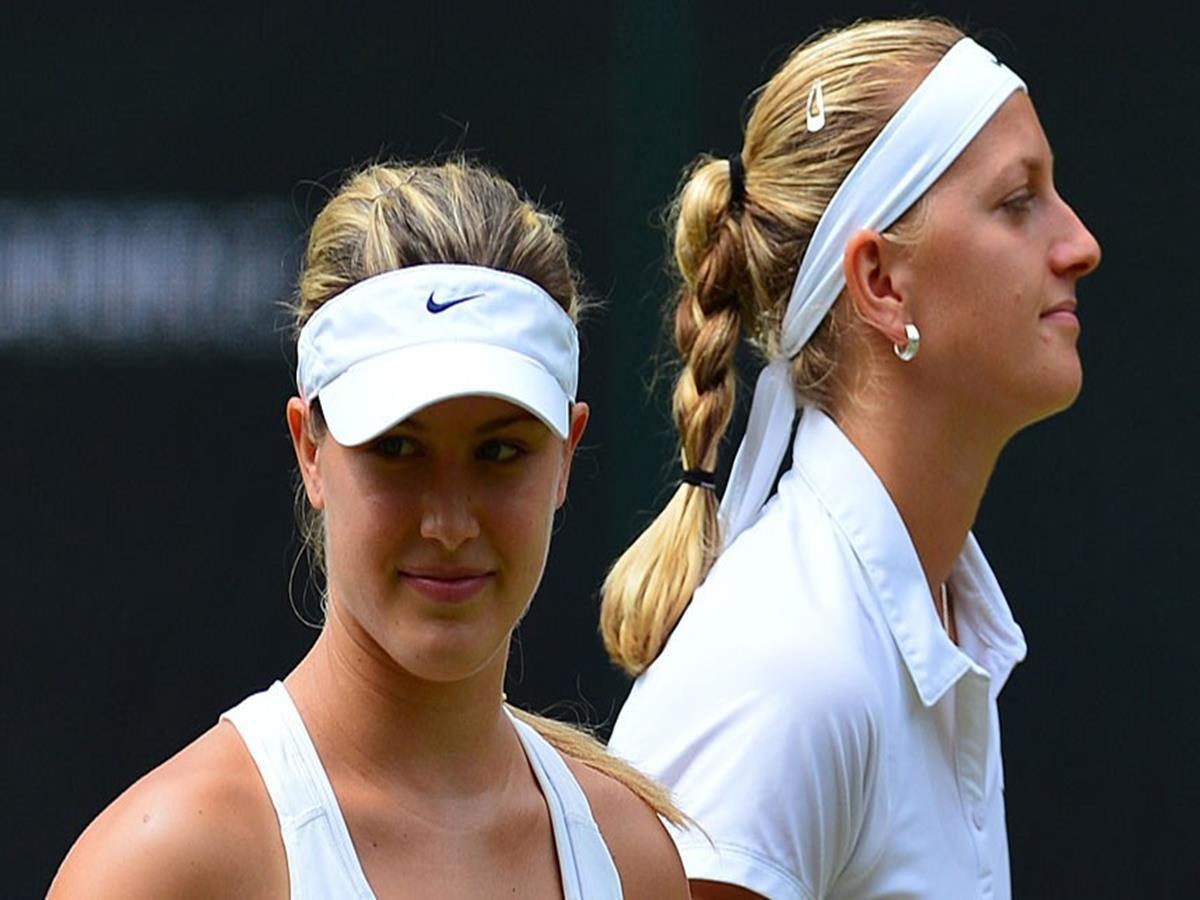 147 - 8 X 6 Photo -Tennis - Wimbledon Championships 2014 - Ladies Final - Kvitova V Bouchard