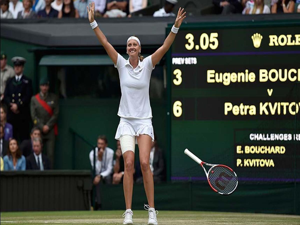 149 - 8 x 6 Photo - Tennis - Wimbledon Championship 2014 - Ladies Champion Petra Kvitova