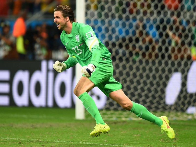 581 - 8 X 6 Photo - Football - FIFA World Cup 2014 - Holland V Costa Rica - Tim Krul