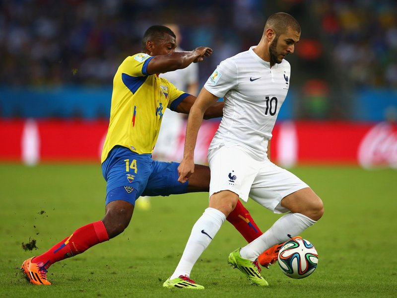 378 - 8 x 6 Photo - Football - FIFA World Cup 2014 - France v Ecuador Karim Benzema