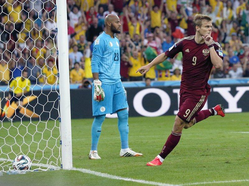 399 - 8 x 6 Photo - Football - Fifa World Cup 2014 - Algeria V Russia Alexander Kokorin