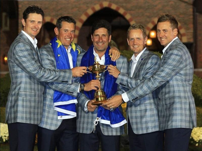 001 - 8 X 6 Photo - Ryder Cup 2012 - Donald Poulter Westwood Rose Olazabel