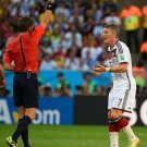 654 - 8 X 6 Photo - 2014 World Cup - The Final - Germany v Argentina - Schweinsteiger yellow