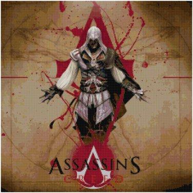 ASSASSIN'S CREED EZIO #1 CROSS STITCH PATTERN