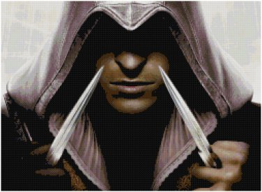 ASSASSIN'S CREED EZIO #3 CROSS STITCH PATTERN