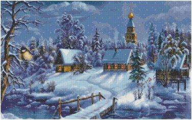 CHRISTMAS TOWN CROSS STITCH PATTERN PDF ONLY