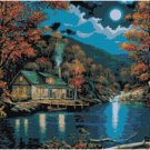 LOG CABIN IN THE WOODS CROSS STITCH PATTERN PDF ONLY