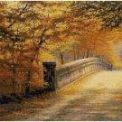 BRIDGE IN AUTUMN CROSS STITCH PATTERN PDF ONLY