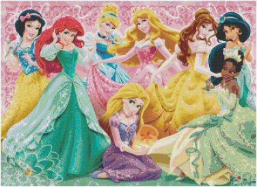 DISNEY PRINCESS #13 CROSS STITCH PATTERN PDF ONLY
