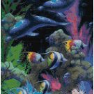 DOLPHIN AND TROPICAL FISH CROSS STITCH PATTERN PDF ONLY