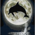 DOLPHIN MOON CROSS STITCH PATTERN PDF ONLY