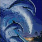 DOLPHINS ON WAVES CROSS STITCH PATTERN PDF ONLY