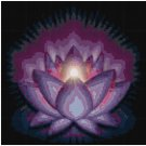GLOWING LOTUS CROSS STITCH PATTERN PDF ONLY