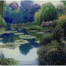 BEAUTIFUL WATER GARDEN - GARDEN CROSS STITCH PATTERN PDF ONLY