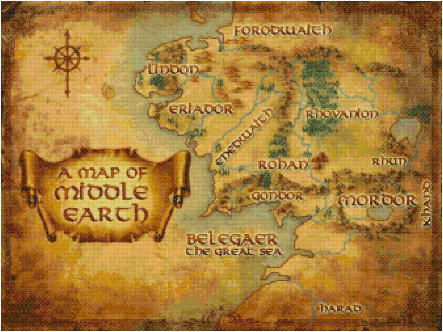 It's just a picture of Dramatic Printable Map of Middle Earth