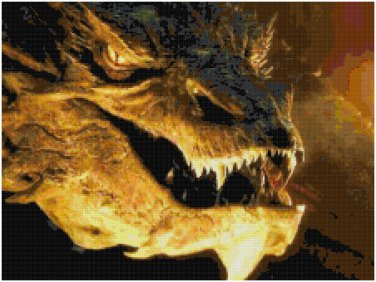 Image result for smaug dragon cross stitch