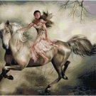 WOMAN ON A HORSE CROSS STITCH PATTERN PDF ONLY