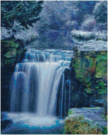 WATERFALL #2 CROSS STITCH PATTERN PDF ONLY