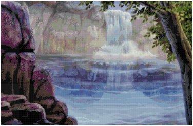 WATERFALL #4 CROSS STITCH PATTERN PDF ONLY